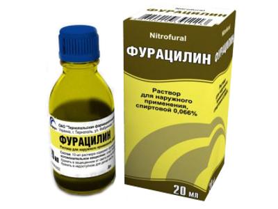 фурацилин от боли в горле